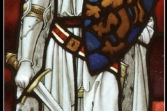 P-3-DETAIL OF STAINED GLASS BRODWORTH CHURCH by Pil Holmes