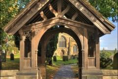 D-3-LYCH GATE ECCLESFIELD CHURCH by tom allison