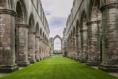 CHURCH RUINS FOUNTAINS ABBEY by Bob Harper
